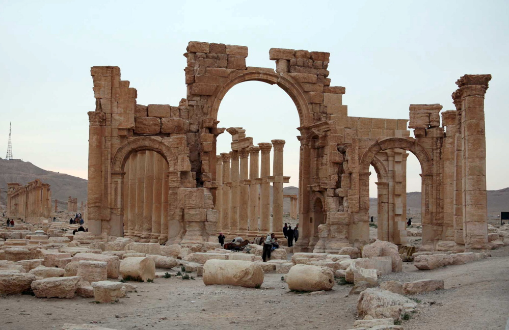 Palmyra, one of the Middle East's most spectacular archaeological sites and a UNESCO World Heritage site, sits near the modern Syrian city of the same name.