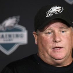 AP photo   Philadelphia Eagles head coach Chip Kelly speaks with members of the media during training camp Thursday in Philadelphia.