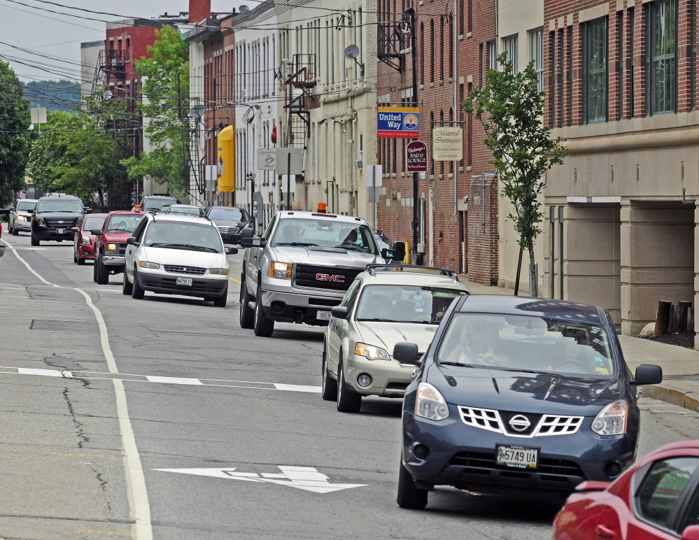 Commercial Street in Augusta's downtown is one of the roads targeted for improvements under a proposal from City Manager William Bridgeo.