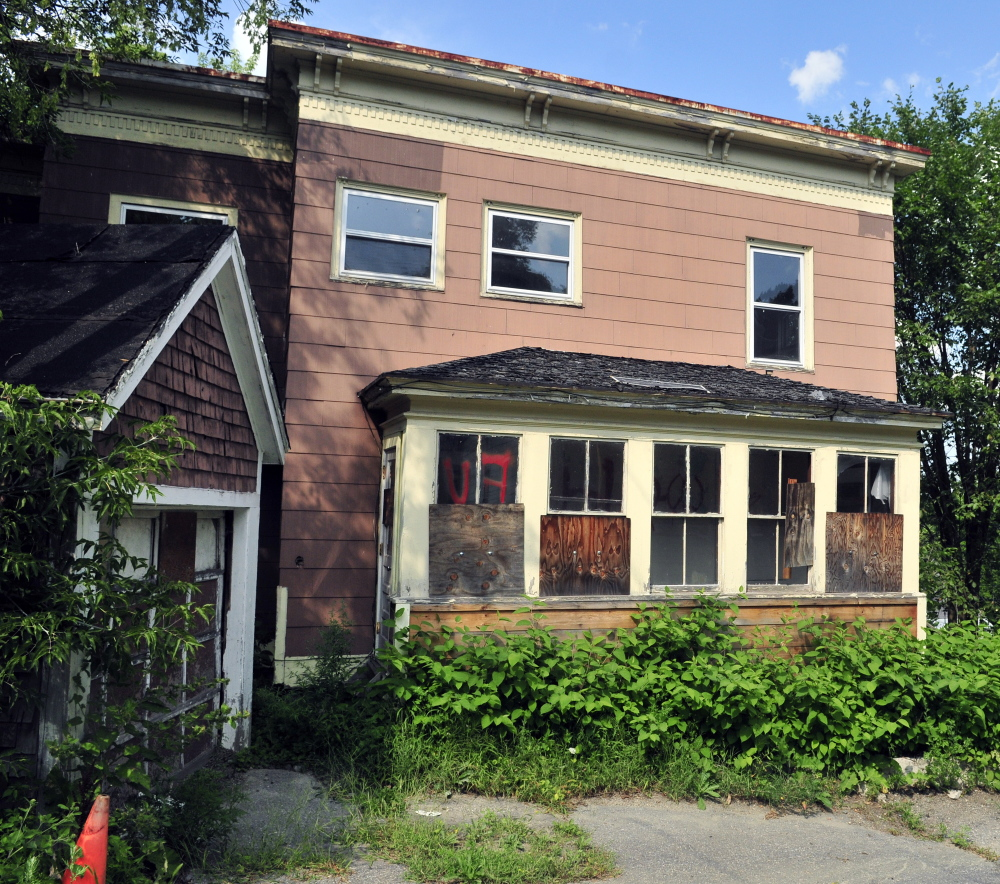 A vacant property at 15 Morton Place in Augusta shows the type of buildings the City Council is hoping to address with a new vacant property ordinance.