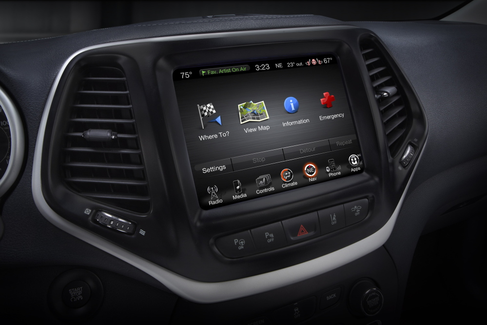 Hackers exploited this Uconnect infotainment system to take control of a 2014 Jeep Cherokee.