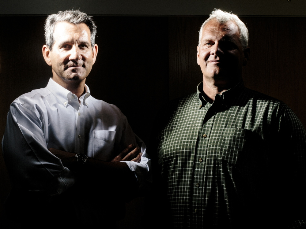 Marketing executive Alexander Kemp, left, and retired SEAL Harding Bush founded the Harke Strategic security firm in Portland last year after meeting at a banquet and discovering that they both played rugby in college.