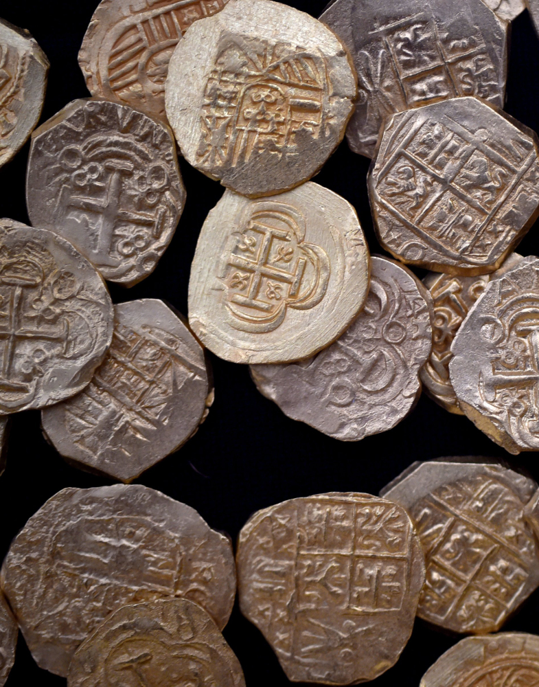 Gold coins were found July 30 and 31 in a Spanish galleon that was wrecked in an area aptly known as Florida's Treasure Coast.