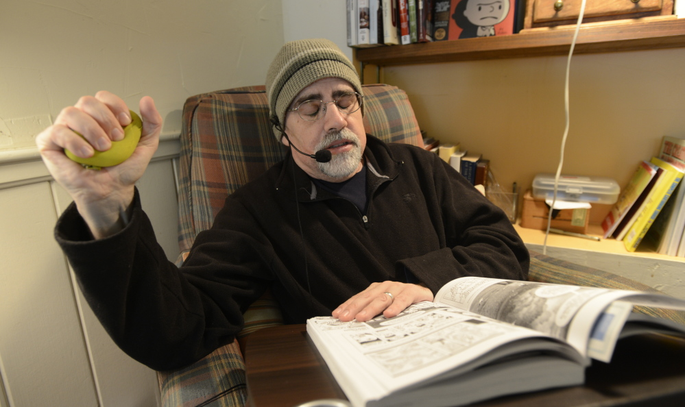 Bob Sprankle, 52, has chronic lower abdominal pain but the former Wells teacher's application for disability was denied twice in two years.