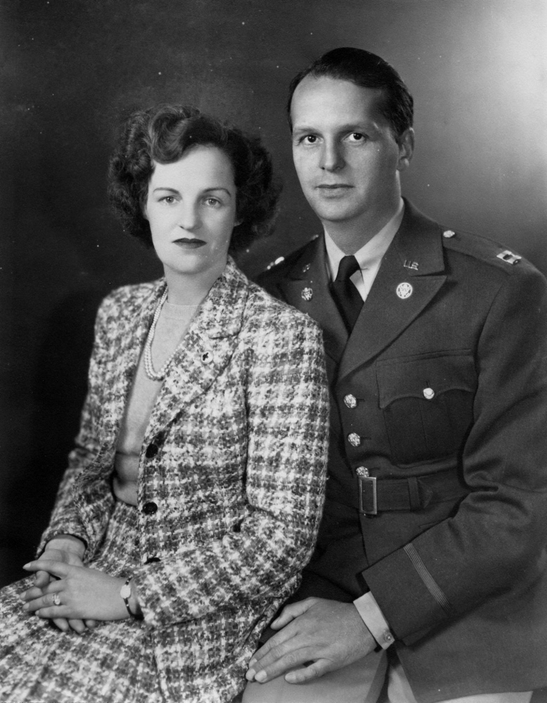 Theo Pozzy and his wife, Dorothy. Pozzy spent three years in the Pacific Theater during World War II, returned to Bangor in 1954 and became a well-known volunteer there.