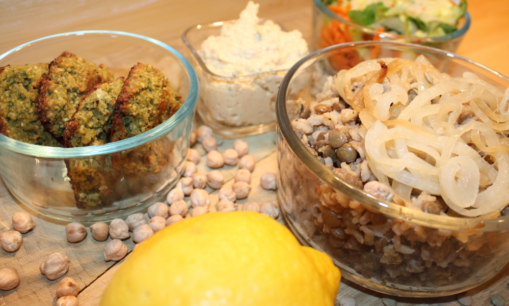 Falafel, hummus and mujaddara show up regularly on columnist Avery Yale Kamila's dinner table.