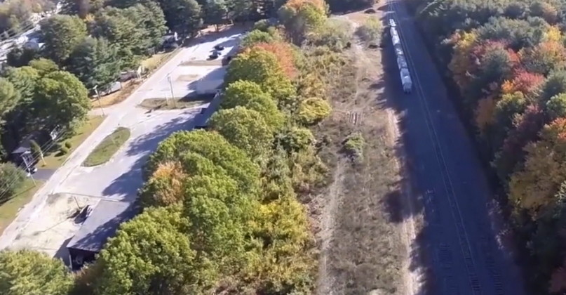 A video image from the TrainRiders/Northeast website shows the site of the planned Amtrak layover facility in Brunswick. Courtesy TrainRiders/Northeast