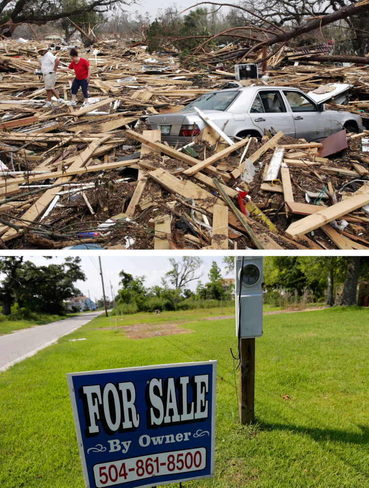 Outside of New Orleans, the destruction was no less devastating. Ten years after Katrina, a neighborhood in Waveland, Miss., has been cleaned up and several home sites put up for sale.