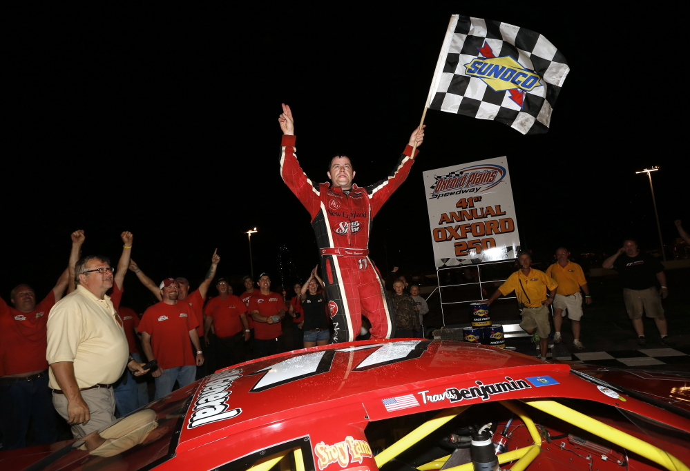 Travis Benjamin of Morrill will be seeking a third consecutive Oxford 250 victory Sunday, but to do it he'll have to contend with a larger field now that New England's top two touring series are getting along.