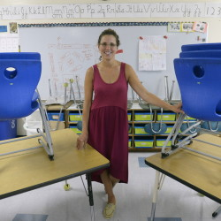 Talya Edlund, third-grade teacher at Pond Cove Elementary School in Cape Elizabeth and a finalist for Maine Teacher of the Year, says she'll be giving her students a really messy project on the first day of school so they can have fun, make a mess, and learn to clean up.