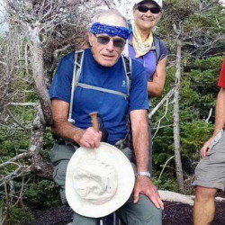 John Lyon, 78, was spotted by a Maine Forest Rangers helicopter crew on a rock slide about 1:30 p.m., Sunday.