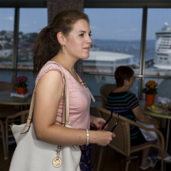 USM senior Jenna Rossnagel interned aboard the Veendam cruise ship after two semesters of research, organization and promotion of the cruise as part of her college curriculum.