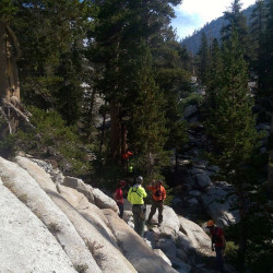 Miyuki Harwood was found Saturday in this remote area of the Sierra National Forest.