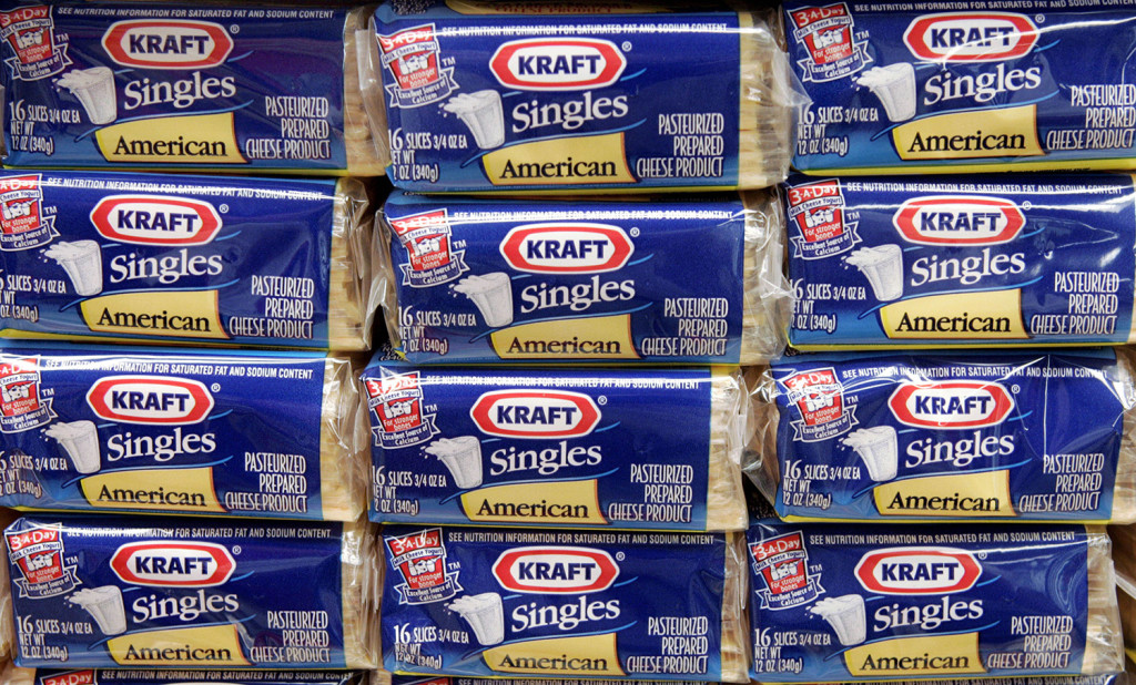 Kraft Singles in the 3- and 4-pound package sizes are being recalled because of a possible choking hazard. The Associated Press
