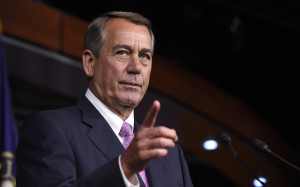 House Speaker John Boehner of Ohio speaks during a news conference on Capitol Hill in Washington on July 29.(AP Photo)