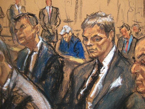 """Jane Rosenberg's drawings of Tom Brady on Wednesday were compared with everything from Lurch in """"The Addams Family"""" to the figure in Edvard Munch's """"The Scream."""""""