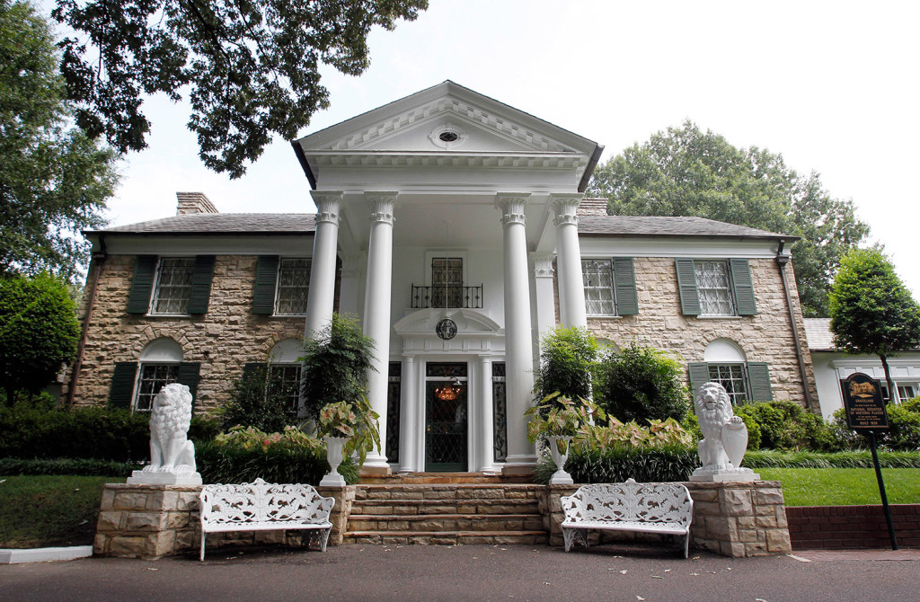 This August 2010 file photo, shows Graceland, Elvis Presley's home in Memphis, Tenn. Over a hundred authenticated artifacts are up for auction Thursday as part of Elvis Week at Graceland.