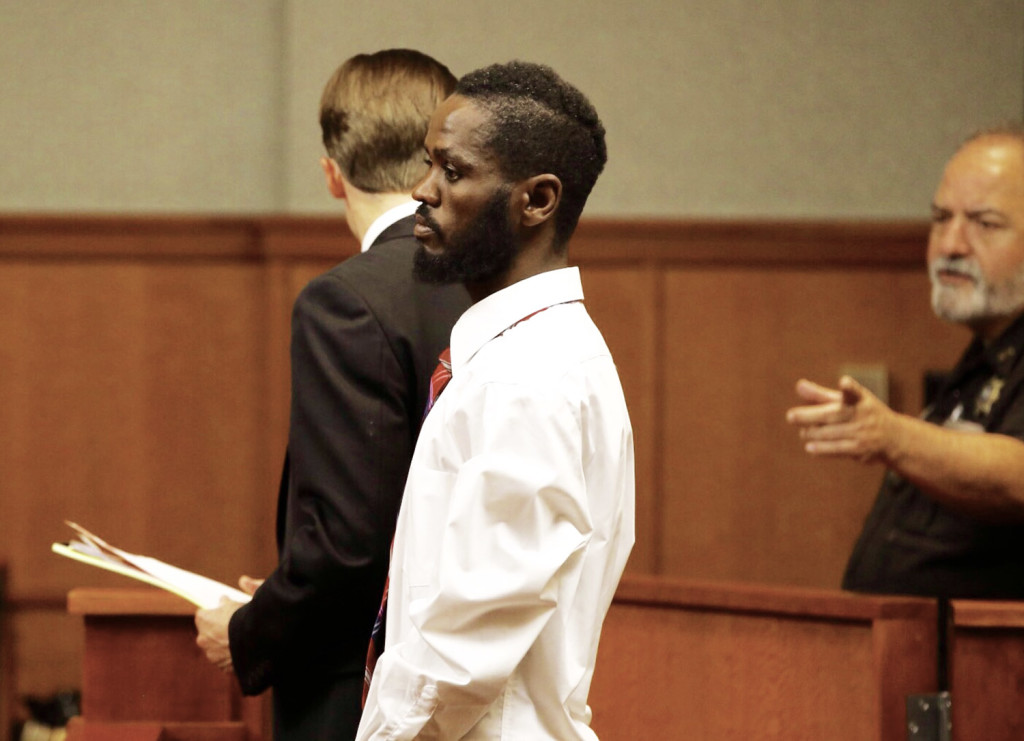 Mohamud Mohamed is one of three men who made initial court appearances at the Cumberland County Courthouse in Portland on Friday on charges of murdering Freddy Akoa of Portland.