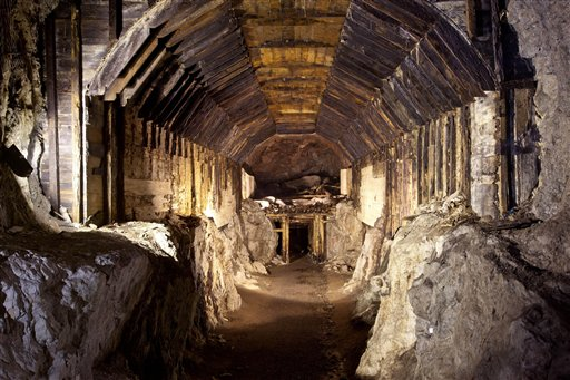 This 2012 Associated Press file photo shows part of a subterranean system built by the Nazis in what is today Gluszyca-Osowka, Poland.