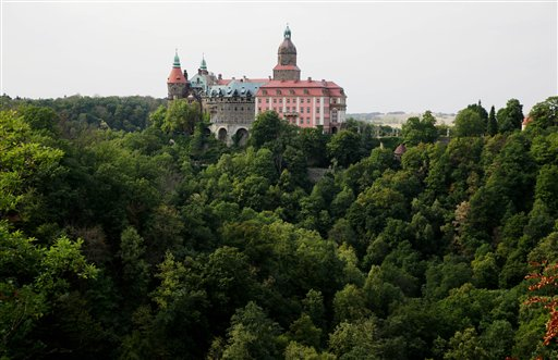 During World War II, Adolf Hitler began to build a system of long tunnels underneath Ksiaz Castle in Poland, fueling speculation in some quarters that the tunnels were intended to hide the spoils of war.  The Associated Press