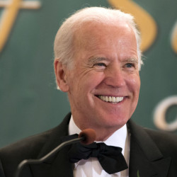 This March 17, 2015 file photo shows Vice President Joseph R. Biden, Jr. speaking during the 110th annual dinner of the Friendly Sons of Saint Patrick of Lackawanna County at Genetti Manor in Dickson City, Pa.