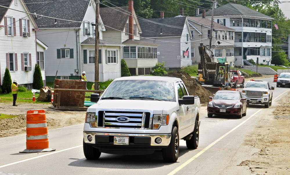 Traffic heads north Thursday on the one-way section of Mount Vernon Avenue in Augusta.
