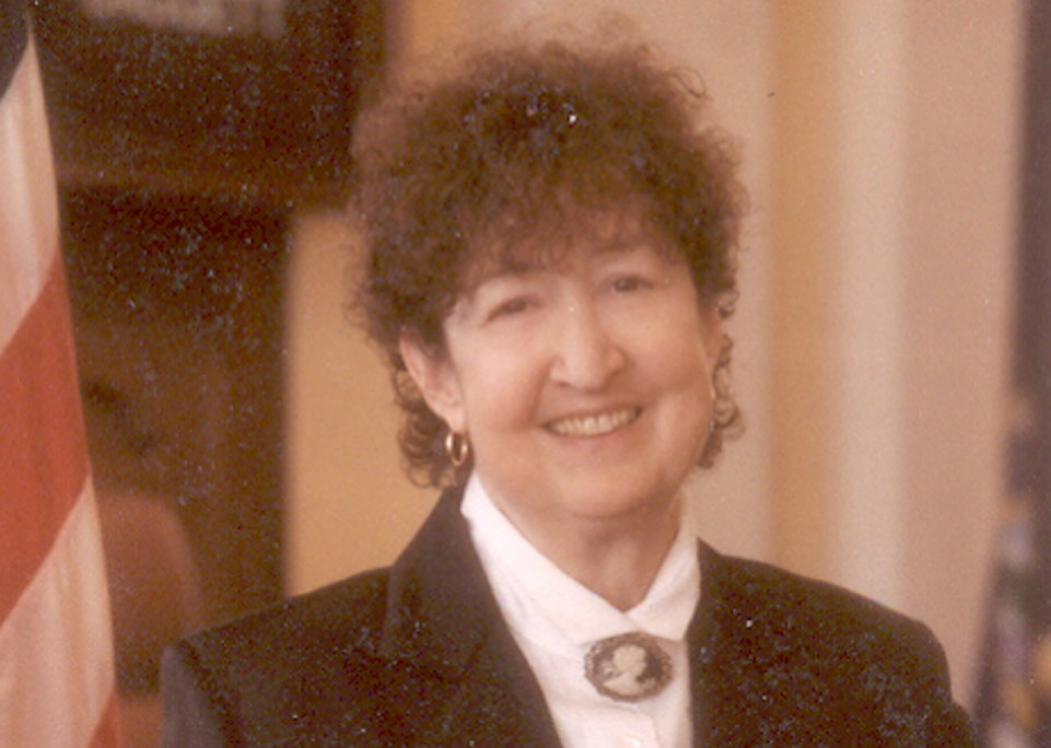 Beverly Daggett, seen in 2002 when she became the first female Maine Senate president, died Sunday after a long illness.
