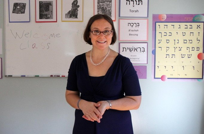 Temple Beth El Rabbi Erica Asch, shown in October 2014 in the Nancy and Charlie Shuman Center for Jewish Learning in Augusta, is traveling to Virginia this today to take part the America's Journey for Justice march. Pastor Erik Karas, of Prince of Peace Lutheran Church and St. Mark's Episcopal Church in Augusta, also is taking part in the event.