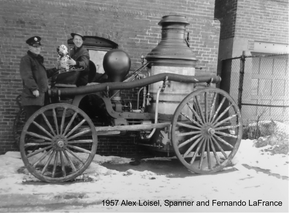 Waterville bought this Button steam fire engine on May 27, 1884, for $3,500. The Fire Department kept the steam engine until late 1957, when it was sold to Edaville Railroad Co. in South Carver, Massachusetts, for $250.