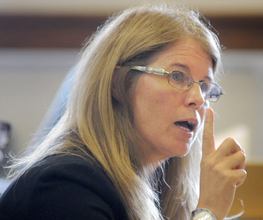 Mary Mayhew, commissioner of Maine Department of Health and Human Services, appeared Monday before the Legislature's Appropriations Committee in Augusta.