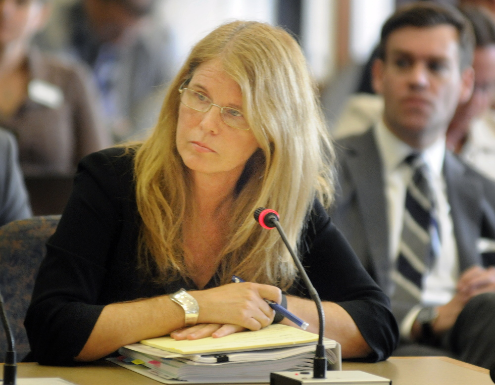Mary Mayhew, commissioner of Maine Department of Health and Human Services, appeared before the Legislature's Appropriations Committee in Augusta recently.