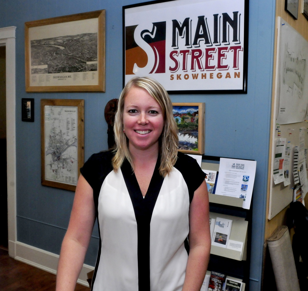 Kristina Cannon, photographed Wednesday in Skowhegan, is the new executive director of Main Street Skowhegan.