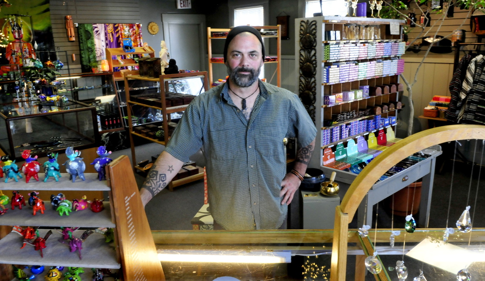 Jim Egerton is the owner of the new Father Jimmy's store on Main Street in Waterville, seen on Thursday.