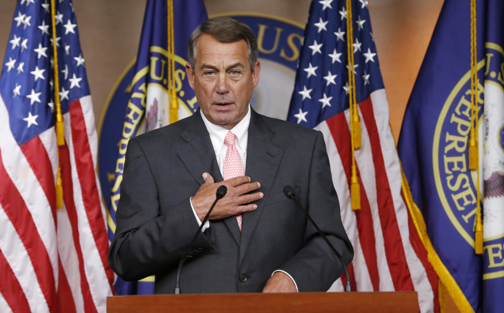 House Speaker John Boehner of Ohio says there will be no government shutdown when funding runs out this week.