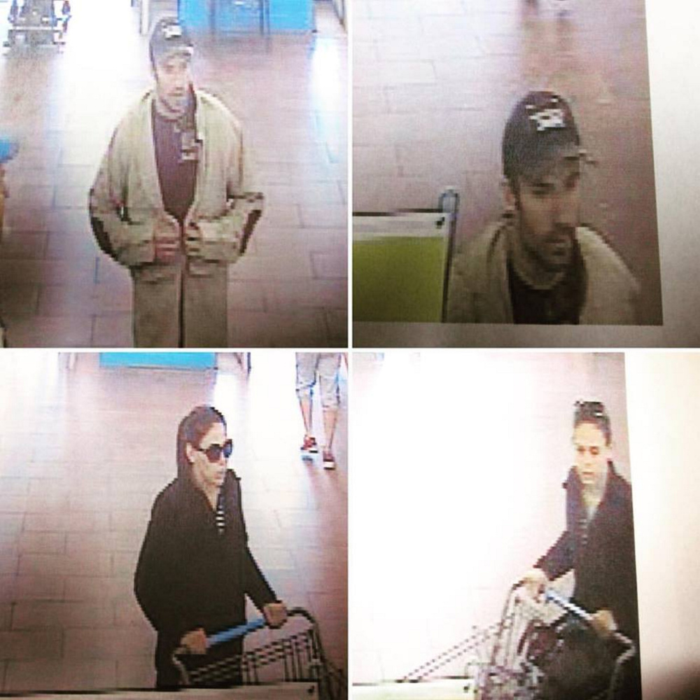 Augusta police are asking the public to help identify two people who are suspected of stealing about $900 worth of merchandise from Wal-Mart.