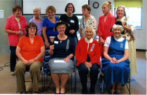 Front, from left, are Beth Cousins, Cheryl Swift, Ginny Hersom and Grace Additon. Back, from left, are Cynthia Herrick, Avery Dunn, Amy Gove, Robin Reed, Ann Thomas, Nancy Troop and Bonnie Wilder.