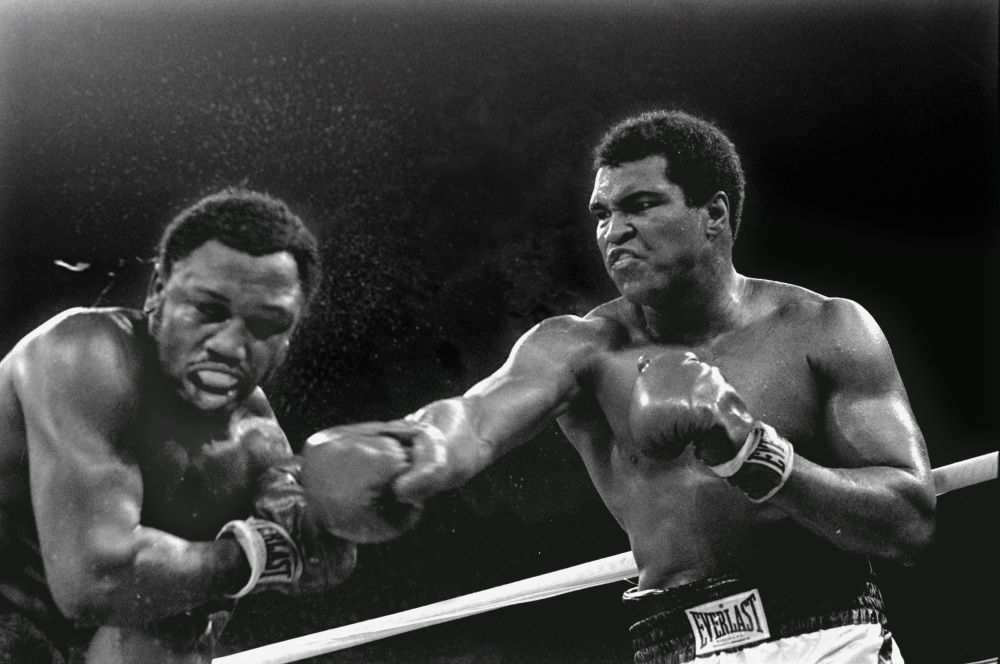AP photo   In this Oct. 1, 1975, file photo, heavyweight champion Muhammad Ali connects with a right to challenger Joe Frazier in the ninth round of their title fight in Manila, Philippines. It was, Muhammad Ali would later say, the closest thing to death he had ever known.