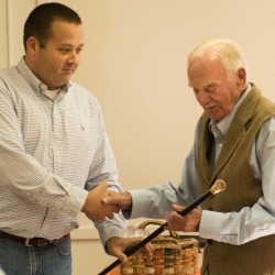 """Rome's Boston Post Cane recently was presented to Frederick """"Freddy"""" W. Weston Jr. at the Rome Community Center."""