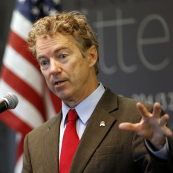 Sen. Rand Paul, R-Ky., speaks in Manchester, N.H., on March 20.