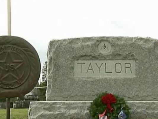 The remains of Lt. Neil Taylor, a Navy pilot in Vietnam, were finally laid to rest at home in Rangeley on Sept. 14. NECN photo
