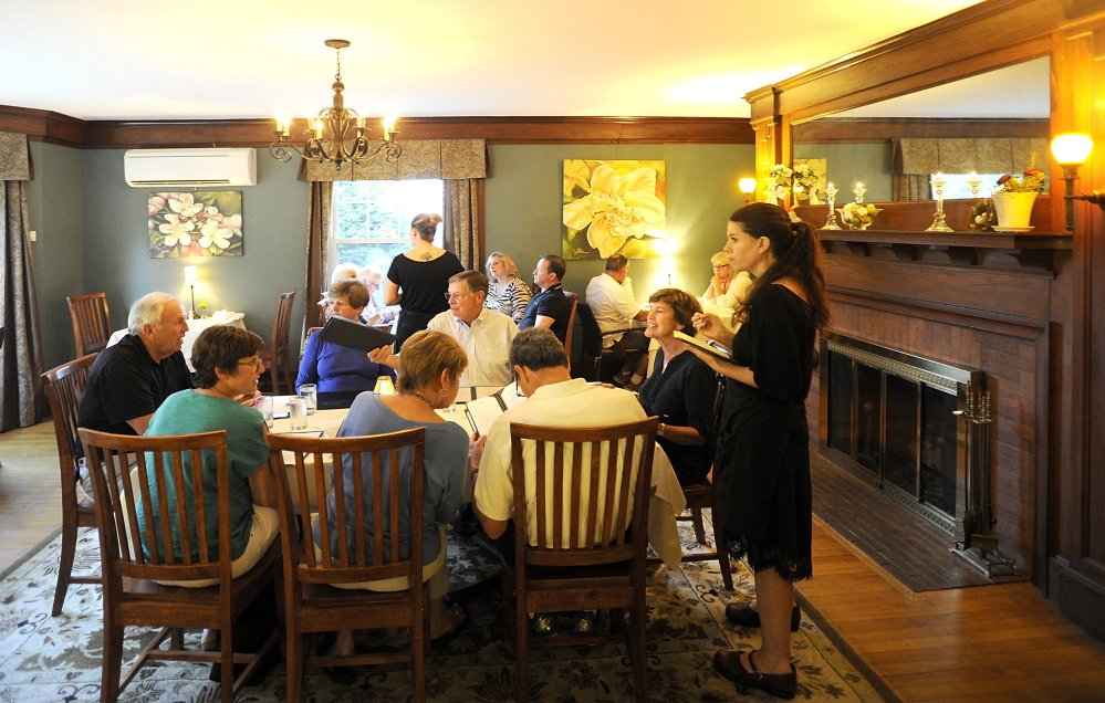 The dining room at Oxford House Inn in Fryeburg