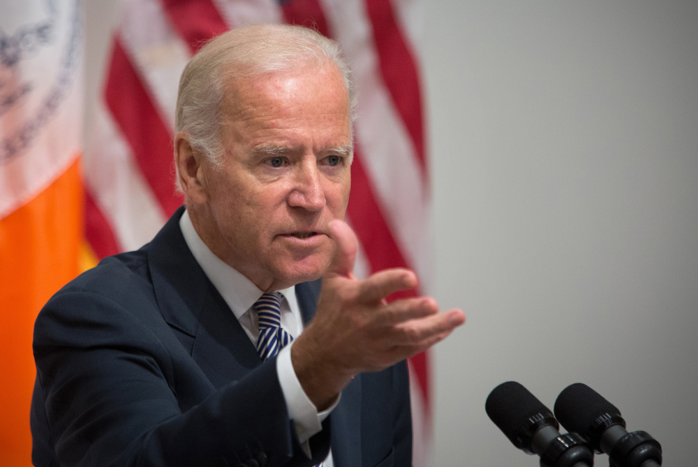 """There's nothing more consequential than giving a woman back her life,"" says Vice President Joe Biden in New York City on Thursday."