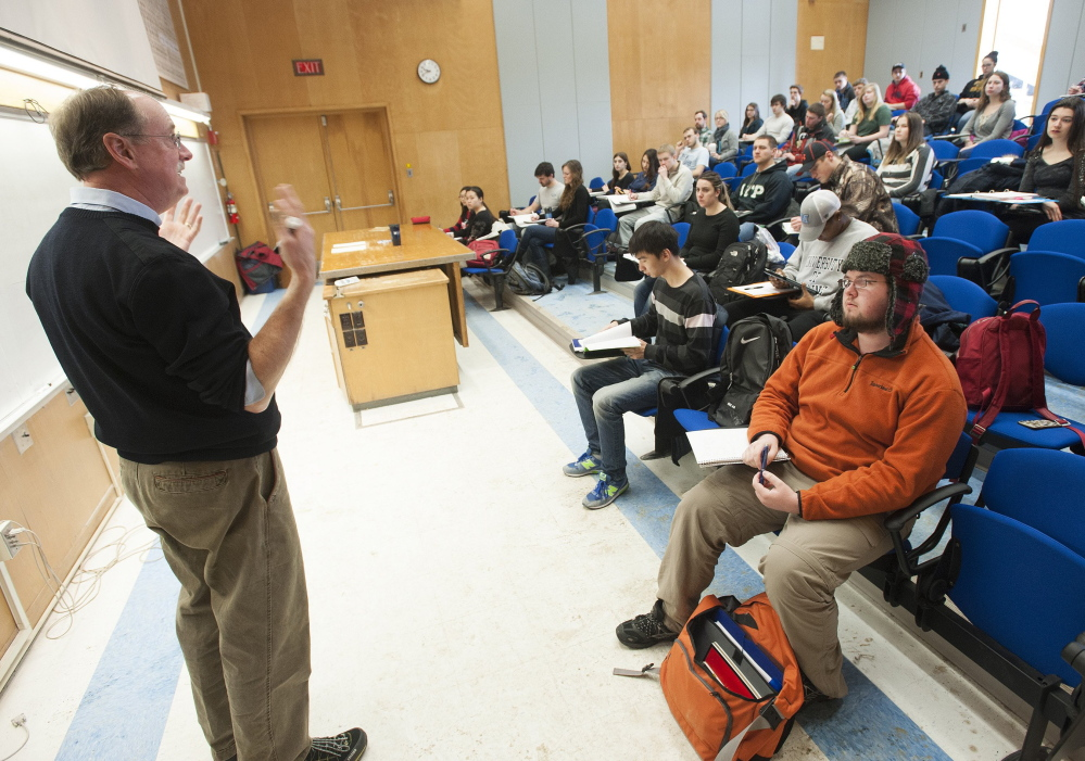 Dr. James Breece might be teaching economics to more out-of-staters at Orono this fall as the flagship campus has over 200 more students  from outside Maine than it did last year.