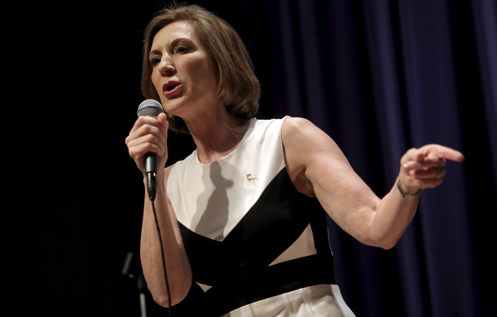 "Republican presidential candidate Carly Fiorina says she hopes what people saw at Wednesday's debate is that ""I can win this job and I can do this job."" One challenge she faces is building infrastructure in early-voting states."