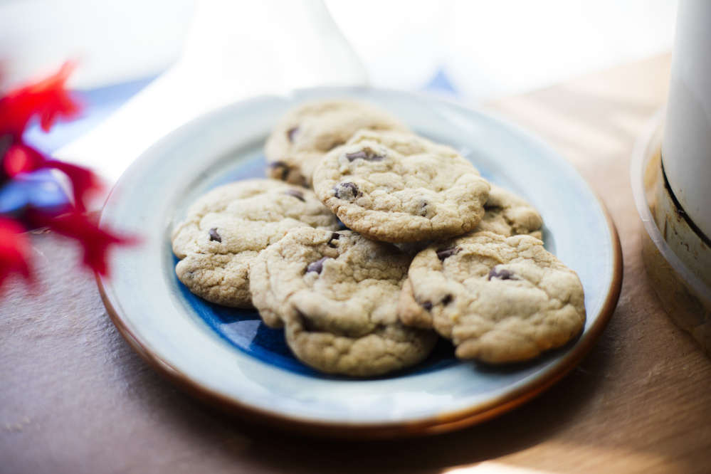 Erica Bartlett's chocolate chip cookie recipe came from her father, a former baker.