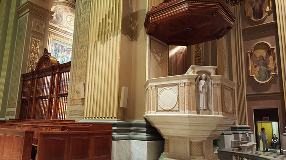 Pope Francis' words will be amplified by Maine-made Terra Speakers at the Cathedral Basilica of Saints Peter and Paul in Philadelphia.