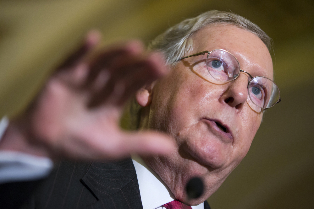 Senate Majority Leader Sen. Mitch McConnell of Kentucky has promised there won't be a government shutdown.