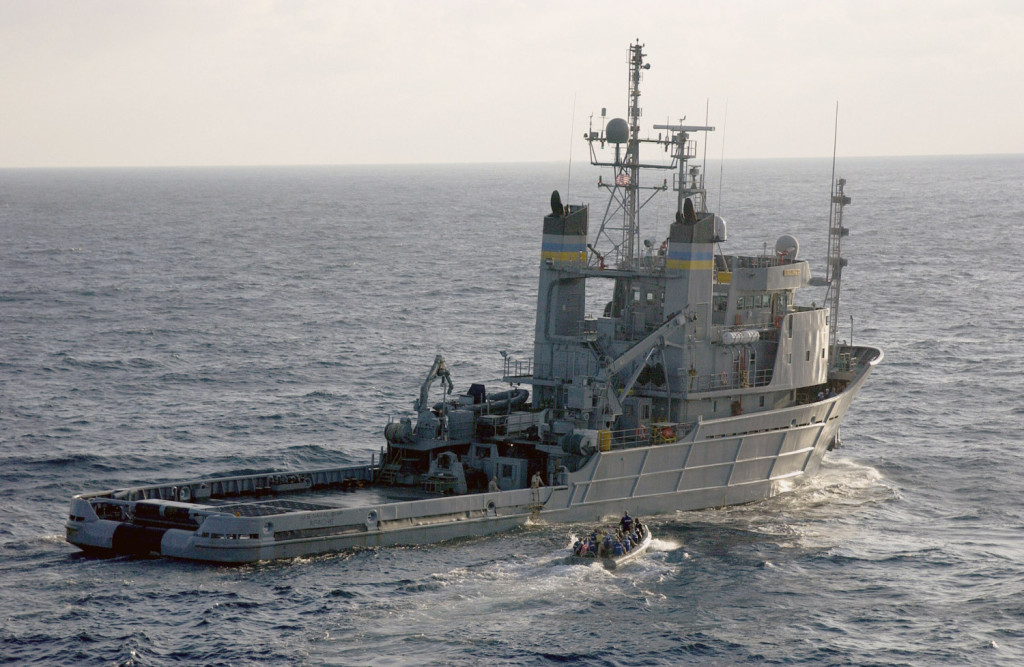 The Navy search and rescue vessel Apache is searching off the Bahamas for the cargo ship El Faro, which sank in Hurricane Joaquin this month with 33 crew members aboard.