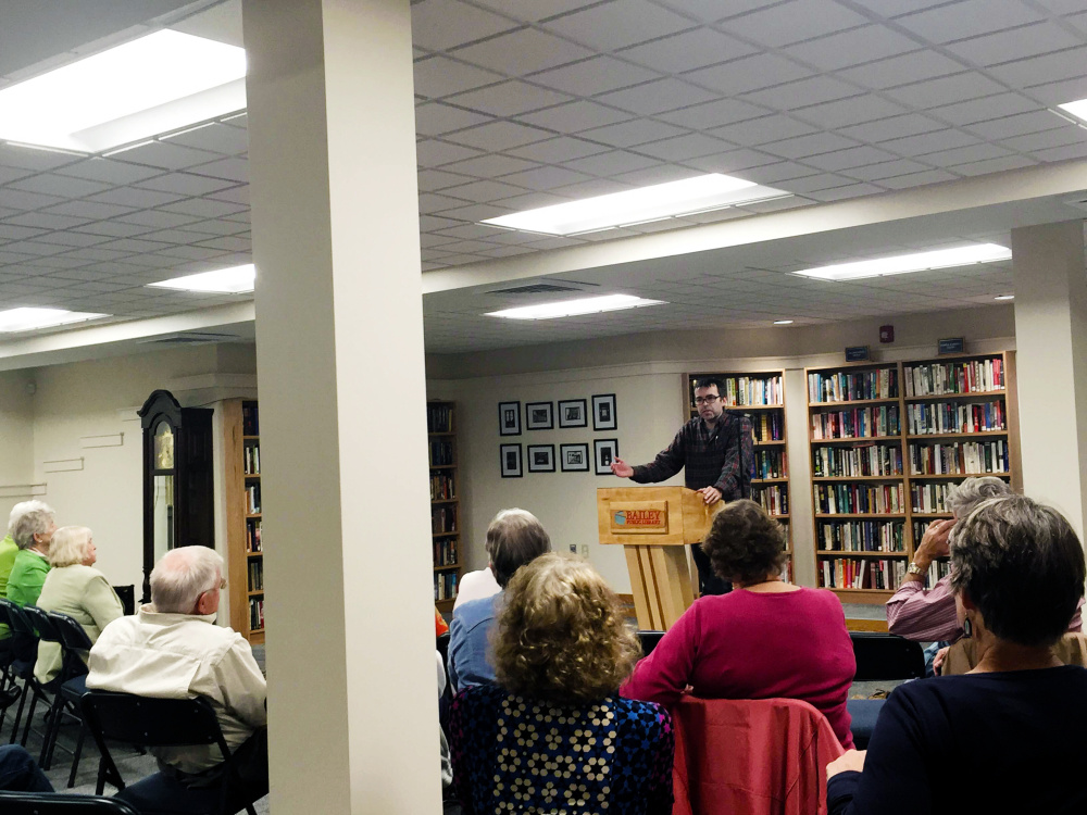Author Owen King kicked off the Charles M. Bailey Public Library Fall Author Series by speaking Sept. 22 in Winthrop.