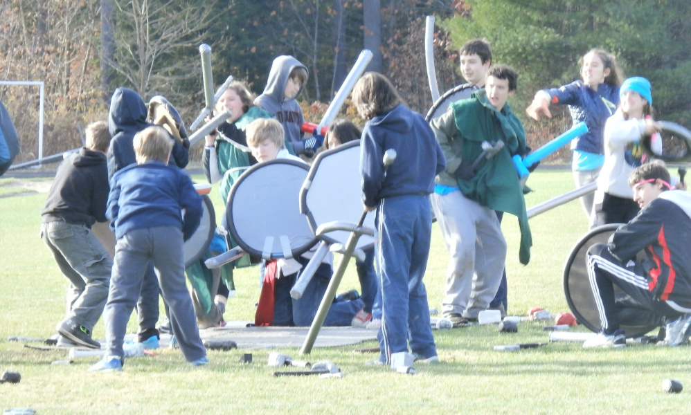 A melee rages between LARPing participants at last year's event.